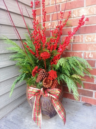 Decorating your porch pots for winter town and country for Outdoor decorating with potted plants